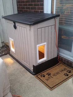 x 2 ft. Store-It-Out MIDI Horizontal Resin - The Home Depot Keter 4 ft. x 2 ft. Store-It-Out MIDI Horizontal Resin - The Home Depot Outdoor shed used for outdoor storage turned into a dog or cat house. Discover the best wood work tool<br> Feral Cat Shelter, Feral Cat House, Feral Cats, Winter Cat Shelter, Winter Dog House, Shelter Dogs, Dyi Dog House, Homemade Dog House, Rescue Dogs