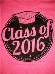 Southern Chics Class of 2016 Graduation Graduate Girlie Bright T Shirt | SimplyCuteTees