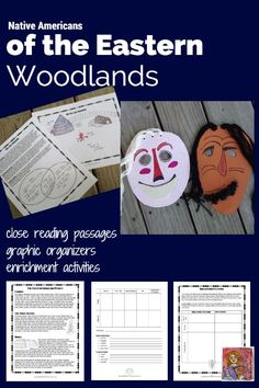 Native Americans of the Eastern Woodlands, Includes northeast region (like Iroquois) and southeast region (like Creek), close reading passages graphic organizers, and enrichment activities, 3rd to 5th grades
