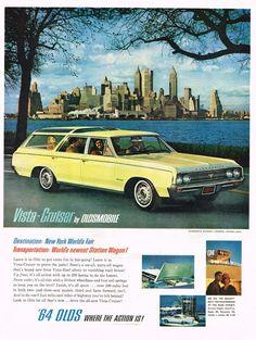 Vintage Oldsmobile Car Brochure - Very Cool!!