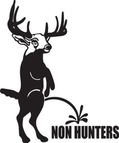 10in Hunting Collection HNT1 (27) Piss on non hunters Decal Sticker Back Window WallArt Car Camo Commander Hunt Buck Skull Deer Collector