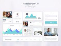 Free Google Design Material UI Kit #UI #Material #Design #Psd #free
