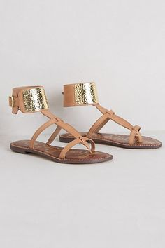 loving these cuff gladiator sandals