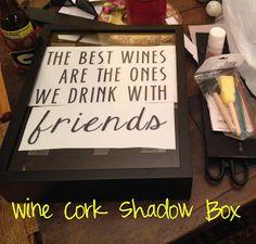 Kasey at the Bat: Super Cheap Wine Cork Shadow Box DIY