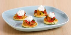 Bake With Anna Olson TV Show recipes on Food Network Canada; your exclusive source for the latest Bake With Anna Olson recipes and cooking guides. Anna Olson, Mini Pancakes, Savory Pancakes, Mini Tortillas, Blinis Recipes, Chives Recipes, Crepes, Brunch Recipes, Breakfast Recipes