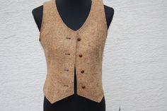 Vintage Cardigans - Mode Weste vintage beige braun gefüttert Knöpfe  - ein Designerstück von trixies-zauberhafte-Welten bei DaWanda