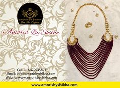 Add An Extra Edge To Your Attire With One Of Our Most Amazing Necklaces Of All Time.  To Place Your Order Contact: Call: +1 6479945801 Email: info@amorisbyshikha.com  web: http://amorisbyshikha.com/ #Amorisbyshikha #Sparkly #Elegant