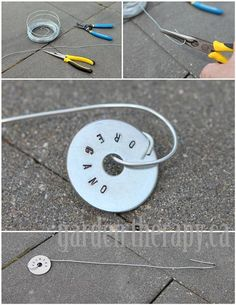 I'd need more supplies but why would I let a thing like that stop me?  How to make Metal Stamped Plant Tags (via Garden Therapy