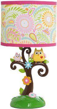 Baby girl owl themed nursery