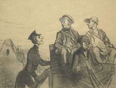 'Emotiones De Chasse' Honore Daumier (1808-1879)