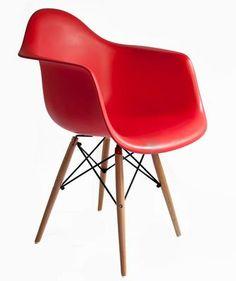 Silla Eames con Brazos y Patas de madera, DAW. Muebles Modernos