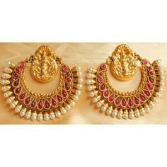 Online Shopping for GORGEOUS ROYAL REAL KEMP STONE HUGE | Earrings | Unique Indian Products by Dreamjwell - MDREA48845889990