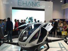 Drone capaz de transportar passageiros humanos é apresentado no CES 2016   Canal do Kleber