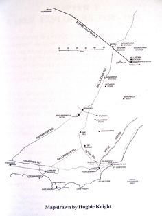 """Map, drawn by friend Hugh Knight,  of area around Israelite Bay and Balladonia covered in new book """"Challenge in Isolation"""" by Esperance resident and Nullarbor lover and author, John (JB) Bridges. Great for explorers, comes with photos.  Contact jbesperance@hotmail.com"""