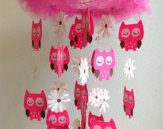 Bébé Mobile hibou  Owl pépinière  Cloud par GiseleBlakerDesigns