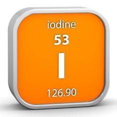 Iodo - Substância importante para o metabolismo.  Essencial para o equilíbrio da produção dos hormônios secretados pela glândula tireoide, o iodo pode comprometer a saúde do organismo tanto em excesso (pode provocar intoxicação) quanto em escassez (causa do bócio).