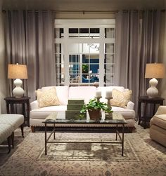 Sneak Peek Of Rowe Furniture's 2016 Spring High Point Market Showroom Furniture Upholstery, Fine Furniture, Crypton Fabric, White Couches, Comfy Sofa, Humble Abode, Home Living Room, Decoration, Dekoration