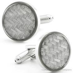 The factory man cufflinks are the pair to buy for a versatile and classy addition to any man's ensemble. These gray cufflinks are set apart by the fine attention to detail enhanced by the sheen of gray on silver collaboration. The end product is a pair of quality texture...