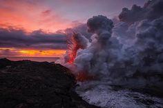 Lava Ocean Explosion (photographer Tom Kualii)