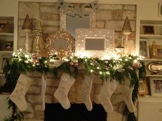 Christmas mantle...