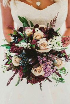 burgundy wedding bridal bouquet with pale and marsala flowers