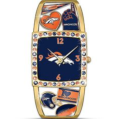 Prime Time Broncos Officially Licensed Denver Broncos Women's Cuff Watch Broncos Gear, Denver Broncos Football, Broncos Fans, Broncos Apparel, Football Baby, Denver Broncos Merchandise, Denver Broncos Womens, Peyton Manning, Prime Time