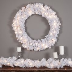 Dramatic and exquisite, the 36 in. Winter Park Pre-Lit Wreath is an excellent choice for your holiday decorating this year. With 440 tips, this. Pre Lit Christmas Wreaths, Pre Lit Wreath, Holiday Wreaths, Christmas Decorations, Xmas, Christmas Ideas, Battery Operated Christmas Wreath, Dress Makeover, Seasonal Decor