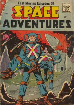 Comic Book Cover For Space Adventures #24