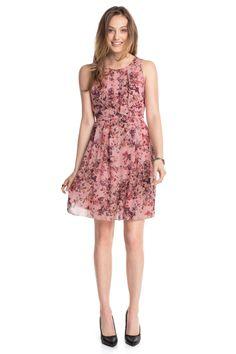 Esprit - Feines Chiffon-Kleid mit Blütendruck im Online Shop kaufen
