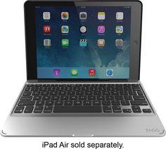 Zagg - Folio Slim Keyboard Case for Apple® iPad® Air 2 - Black, ID6ZF2-BB0