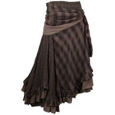 NICHOLAS K HARP SKIRT - nicholask.com - Another versatile piece from Nicholas K Fall 11, the harp skirt is ultra wearable as a skirt or dress. The play of check patterns and the charcoal hues make for an eye catching piece.