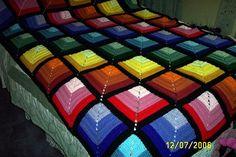 - Log Cabin Rainbow