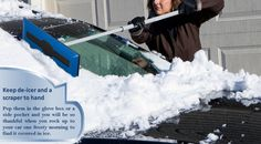 De-icer  This can be a life saver in the cold weather and is a must for any glove compartment. Even if you have a windscreen cover you may still have problems with ice on the windows. De-icer is the most effective way to clear this quickly, efficiently and safely. #summertires