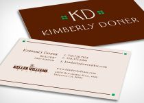 Business cards for client Kimberly Doner.