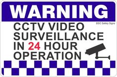 Australia's largest range of Warning CCTV Video Surveillance In 24 Hour Operation 2 Safety Signs, CCTV Security Surveillance Stickers, Lockout Tags, Vehicle Signage, Labels & Engraving. Security Surveillance, Surveillance System, Vehicle Signage, Warning Signs, Metal Signs, Homesteading, Cameras, Safety, Security Guard