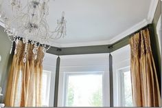 Traditional Cornice Board Window Treatments With Bottom