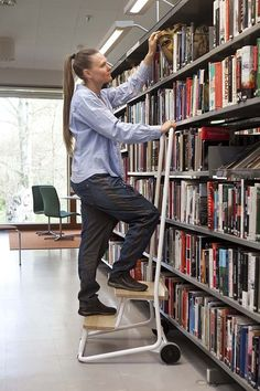ber ideen zu bibliotheksleiter auf pinterest b cherregale b cherregale und. Black Bedroom Furniture Sets. Home Design Ideas