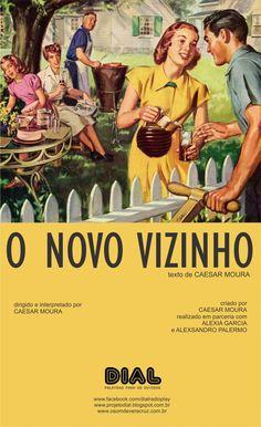 """Comédia Noir. Um novo inquilino muda-se para uma vizinhança tradicional e desperta a desconfiança de todos. """"O Novo Vizinho"""" é uma fábula breve sobre a ignorância e o preconceito.  """"O Novo Vizinho"""", de Caesar Moura, é o sexto episódio do projeto """"DIAL"""", mais uma parceria com os atores Alexsandro Palermo e Alexia Garcia.   https://www.youtube.com/watch?v=hqpNBQYZXYo=player_embedded"""