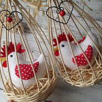 Prodané zboží | Fler.cz Farm Crafts, Cute Crafts, Easter Crafts, Crafts To Make, Chicken Pattern, Country Chicken, Craft Day, Crochet Tablecloth, Creative Decor