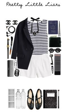 """Pretty Little Liars"" by steptyn ❤ liked on Polyvore featuring T By Alexander Wang, Madewell, ASOS, Jasmin Shokrian Draft No. 17, Passport, Sennheiser, Clips, Chanel, Holga and River Island"
