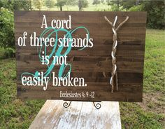 A Cord of Three Strands Large Custom Board by JLCustomDesigns1