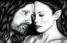 Recently I'm slightly obsessed about everything what has something to do with Lord of the Rings. As you can see, it quite makes itself felt on my drawin. Aragorn and Arwen Aragorn And Arwen, Lord Of The Rings, Lotr, Harry Potter, Star Wars, Batman, Felt, Deviantart, Hobbit