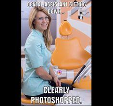 Dental Assistant Humor, Dental Hygiene, Nurse Humor, Dental Health, Dental Humour, Dental Life, Smile Dental, Dentist Jokes, Work Memes