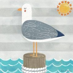 Oopsy Daisy Let& Set Sail Seagull by Anne Bollman Canvas Art Kids Canvas Art, Art Wall Kids, Canvas Wall Art, Art For Kids, Kids Fun, Nursery Wall Decor, Room Decor, Themed Nursery, Painted Rocks