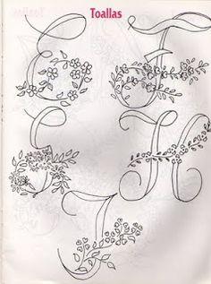 Moldes Para Artesanato em Tecido: Alfabetos para Bordar VOIR D'AUTRES MONOGRAMMES sur ce tableau