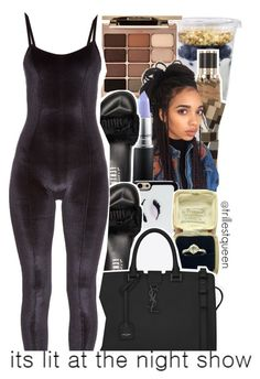 """""""11-17-2016."""" by trillestqueen ❤ liked on Polyvore featuring Burberry, Stila, MAC Cosmetics, Kate Spade, Puma, Yves Saint Laurent and Lisa Marie Fernandez"""