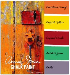 COLORWAYS  Layering Annie Sloan Chalk Paint in these colors will result in a similar look as this door in Portugal