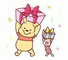 Pooh and Piglet shared by GLen =^● 。●^= on We Heart It Winnie The Pooh Gif, Winne The Pooh, Eeyore, Tigger, Cute Disney, Disney Art, Pooh Bear, Cute Cartoon Wallpapers, Cute Gif