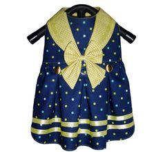 Ships Ahoy Sailor Dog Dress Pattern 1623 Small by SofiandFriends