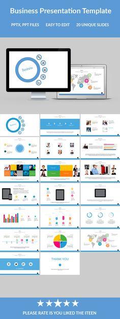 Business Powerpoint Presentation Template #design #slides Download: http://graphicriver.net/item/business-powerpoint-presentation-template/12128728?ref=ksioks